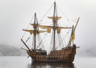 Картинка san+salvador корабли парусники паруса мачты