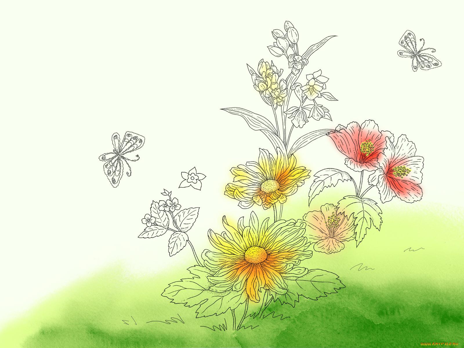 Стихи про, открытки рисовать цветы