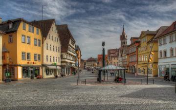 Картинка германия города улицы площади набережные торговая площадь дома