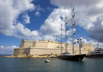 обоя maltese falcon, корабли, Яхты, суперяхта