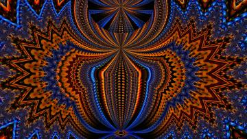 обоя 3д графика, фракталы , fractal, фон, узор, цвета