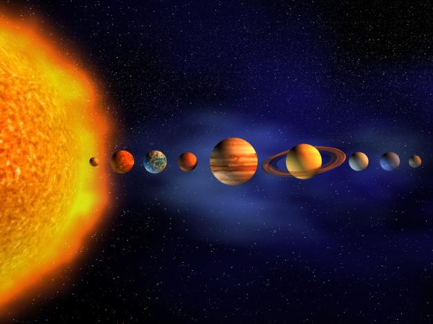 Обои картинки фото космос, арт, звезда, галактика, вселенная, планеты