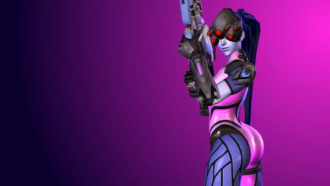 Обои картинки фото 3д графика, фантазия , fantasy, оружие, фон, взгляд, девушка