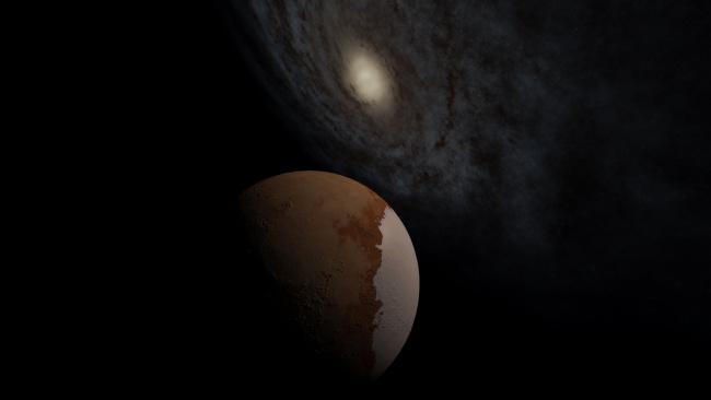 Обои картинки фото космос, арт, звезды, галактика, планета, вселенная