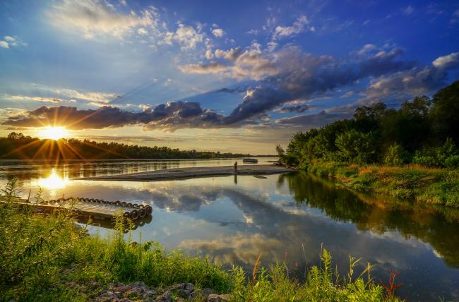 Обои картинки фото природа, восходы, закаты, рассвет