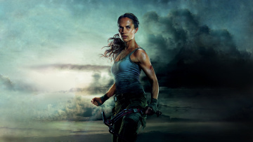 обоя кино фильмы, tomb raider , 2018, alicia, vikander, tomb, raider, lara, croft