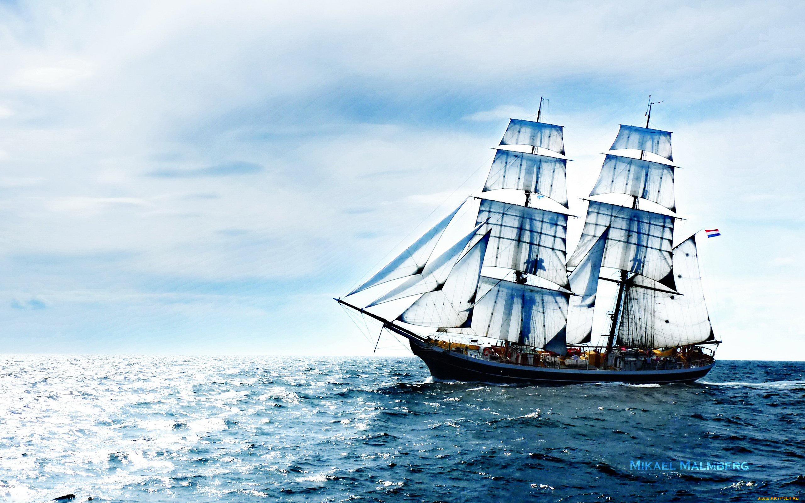Открытка корабль, хэерле