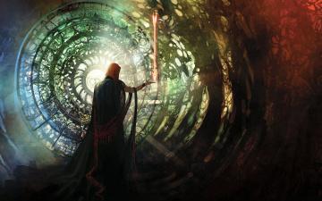 Картинка фэнтези маги +волшебники магия стрела колдун маг волшебство