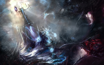 Картинка фэнтези маги +волшебники руны символы монстры маг магия колдун