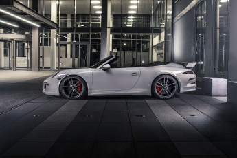 Картинка автомобили porsche 2015г 991 cabriolet carrera 911 techart gts серый