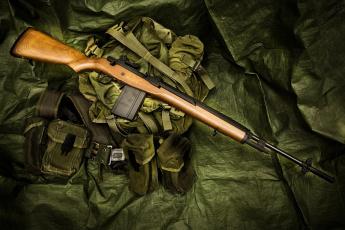 обоя оружие, винтовкиружьямушкетывинчестеры, винтовка, m14, полуавтоматическая, сумка