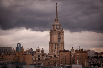 обоя hotel ukraine moscow, города, москва , россия, столица
