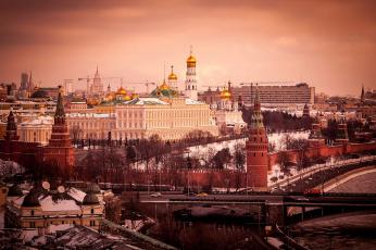 обоя moscow kremlin, города, москва , россия, столица