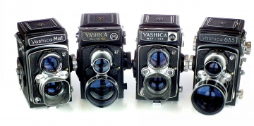 обоя yashica tlr family, бренды, - другое, кинокамера