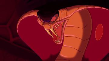 обоя мультфильмы, aladdin, змея