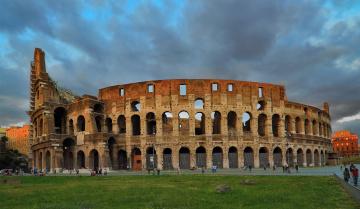 обоя города, - исторические,  архитектурные памятники, колизей, архитектура, рим, италия, небо