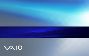 обоя компьютеры, vaio, фон, логотип