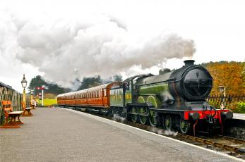 Картинка техника паровозы поезд паровоз рельсы дорога железная