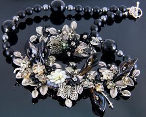 Картинка разное украшения +аксессуары +веера украшение фон ожерелье бижутерия