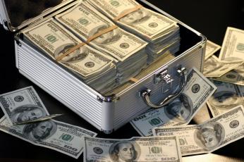 обоя разное, золото,  купюры,  монеты, валюта, банкноты, пачки, чемодан, доллары