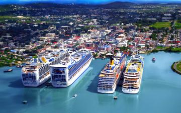 обоя корабли, лайнеры, панорама