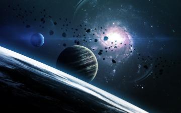 Картинка космос арт звезды галактика вселенная планеты