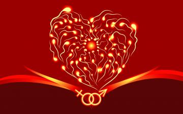 обоя праздничные, день святого валентина,  сердечки,  любовь, графика