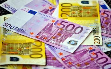 обоя разное, золото,  купюры,  монеты, евро, валюта, банкноты