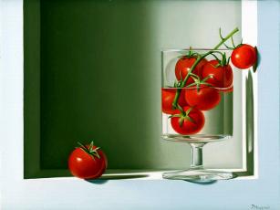 обоя tomates, рисованные, еда