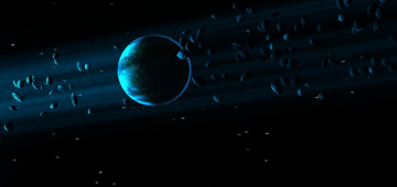 Картинка космос арт sci fi planet blue