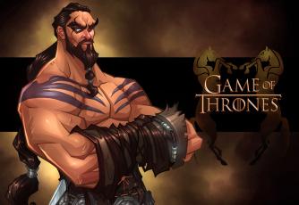 Картинка рисованное кино сериал jason momoa game of thrones khal drogo
