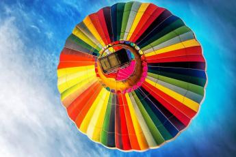обоя авиация, воздушные шары, полет, шар, разноцветный