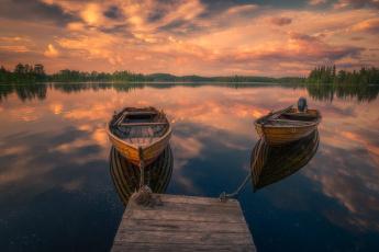 обоя корабли, лодки,  шлюпки, озеро