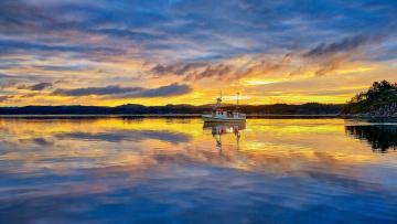 Картинка корабли Яхты яхта озеро облака