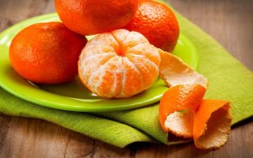 обоя еда, цитрусы, мандарины