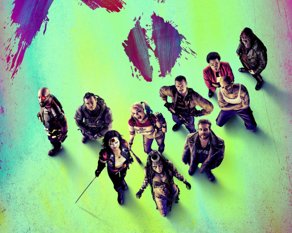 Обои картинки фото кино фильмы, suicide squad, bad, will, smith, girls, killer, croc, captain, boomerang, rick, flagg, amanda, waller, deadshot, suicide, squad, viola, davis, swords, margot, robbie, joel, kinnaman