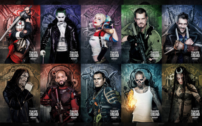 Обои картинки фото кино фильмы, suicide squad, slipknot, will, smith, adam, beach, katana, suicide, squad, harley, quinn, joel, kinnaman, jared, leto, cara, delevingne, joker, karen, fukuhara, deadshot, captain, boomerang, killer, croc, movie, margot, robbie, rick, flag, jai, courtney, отряд, самоубийц