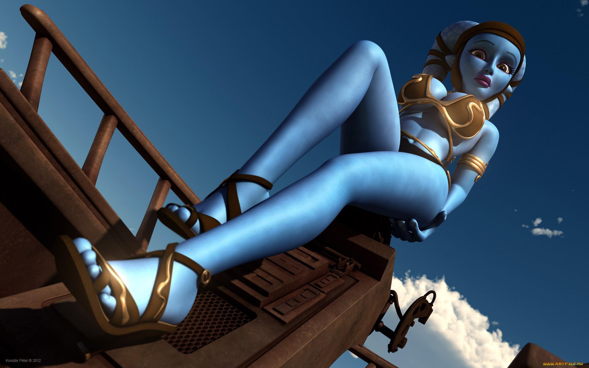 Blue angel nackt