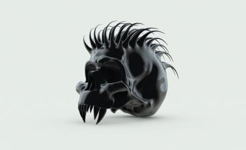 Картинка 3д графика horror ужас череп