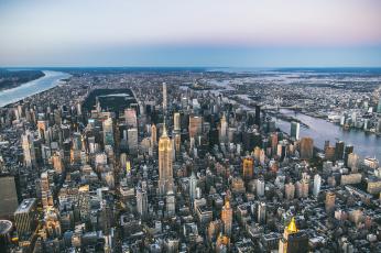 обоя города, нью-йорк , сша, панорама, город, мегаполис, new, york