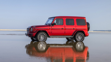 обоя mercedes-benz g-class g550 2019, автомобили, mercedes-benz, g550, g-class, red, 2019