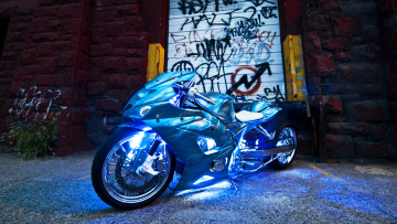 обоя мотоциклы, customs, gsx-r1000, suzuki, custom, stretched