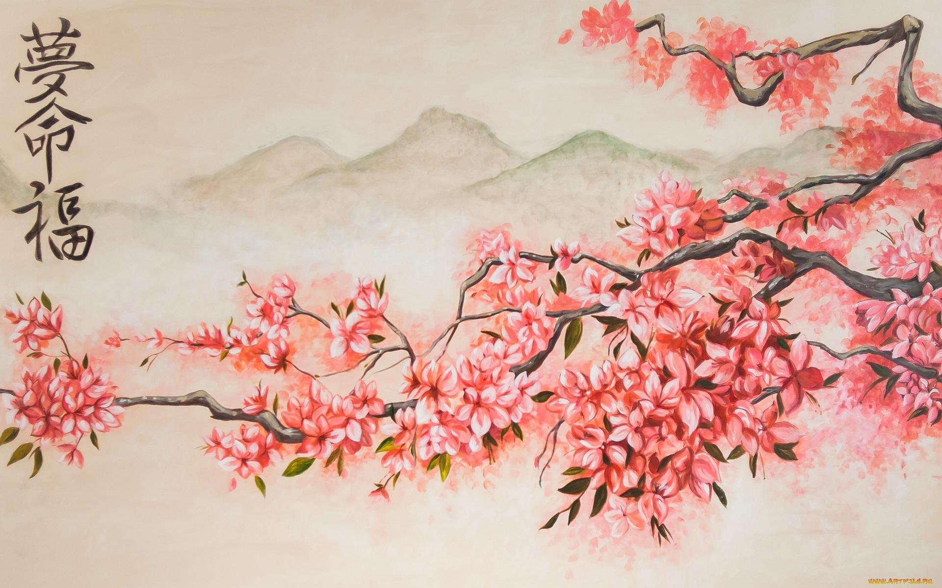 японском стиле в нарисовать картинки