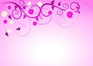 обоя векторная графика, цветы , flowers, цветочки, узоры, фон