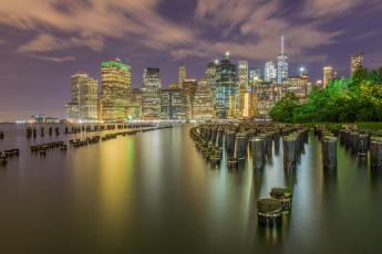обоя города, нью-йорк , сша, побережье