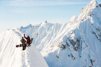 обоя спорт, сноуборд, горы, снег, люди