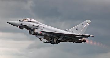 обоя eurofighter typhoon ef2000, авиация, боевые самолёты, истребитель