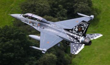 обоя f-16, авиация, боевые самолёты, истребитель