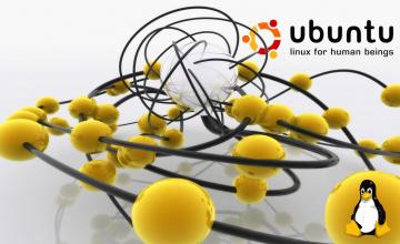 обоя компьютеры, ubuntu linux, логотип, фон