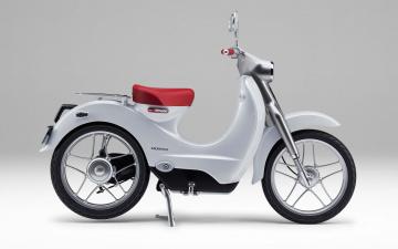 обоя мотоциклы, honda, 2018, года, электрический, мотоцикл, ev-cub